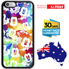 TPU Rubber Shockproof Bumper Case Cover Colour Color Disney Mickey Mouse Faces