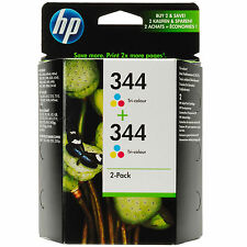 Original Oem HP Color (TRICOLOR) CARTUCHO DE TINTA 344 HP344 Paquete Doble