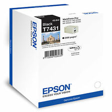 Genuino Epson WorkForce Pro negro original cartucho de Tinta -