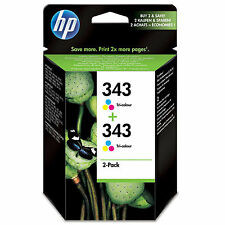 OEM HP HEWLETT PACKARD CARTUCHO DE TINTA A COLOR HP 343 CB332EE PAQUETE DOBLE