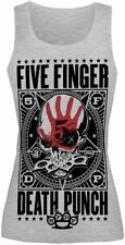 Five Finger Death Punch Punchagram Top donna grigio sport