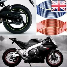 "Motorbike Car Reflective Wheel Rim Trim Tape Sticker 16""17""up to 18""Pack of 16"