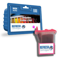 Refresh CARTOUCHES Magenta LC800 Séries Encre Compatible avec Brother