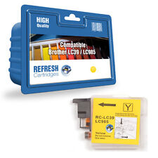 Refresh Cartuchos Amarillo LC985/LC39 Tinta Compatible con Brother Impresoras