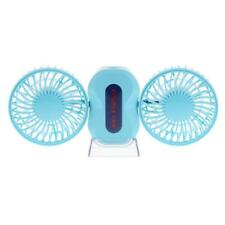 2in 1 USB Desktop Computer Couple Cooling Fan with LED Light for Home Office