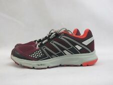 Ladies Salomon XR Shift Ld71 Running Shoes Red Grey Textile Lace Up Trainers