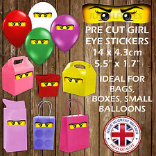 Ninjago Girls Eyes Stickers for Gift Bag Box Party Decoration Children Favours