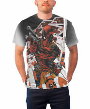 Deadpool T Shirt Homme Deadpool Cards nouveau officiel Marvel Comics Sub Dye