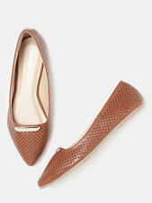 DressBerry Women Pointy-Toed Cut-Out Ballerinas-H3F