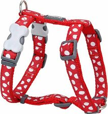 Red Dingo Spot Design Harness RED for Dog / Puppy   XS - LG   FREE P&P