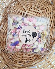 READY TO USE -Throw me - Wedding Confetti pack / Natural Petal Confetti/ pink