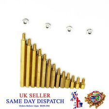 M3 Male Hex Brass Spacers Pillars Threaded Hexagonal Standoff PCB with Nuts