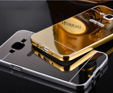 Luxury Metal Bumper Mirror Back Case Cover For Samsung Galaxy A5(2016 Edition)