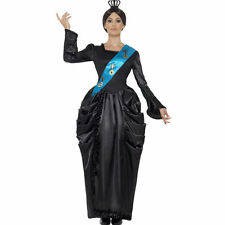 Deluxe Queen Victoria Costume Womens Historical Fancy Dress Black Smiffys