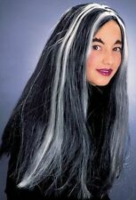 Streaked Black Hair Wig Childrens Witches Synthetic Halloween Malfoy Potter
