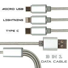 3 In One Multiple USB Charging, Data Cable Compatible For Samsung Galaxy S8