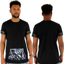 Streetwear Sixth June T-Shirt Stampa Tasca SIMILPELLE Bordo Nero