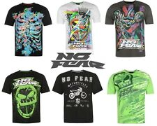 Mens NO FEAR Moto Graphic T-Shirt Crew Neck and Short Sleeves