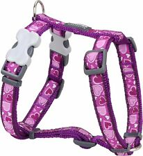 Red Dingo PURPLE Love HEART Harness for Dog or Puppy   Sizes XS - LG   FREE P&P