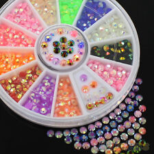 CARROUSSEL 3D STRASS FLUO MULTICOLORE ONGLE NAIL ART NEUF ONG035