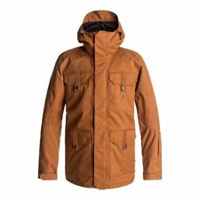 DC SHOES SERVO JACKET LEATHER BROWN GIACCA SNOWBOARD FW 2018  NEW S M L XL