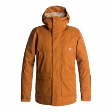 DC SHOES HARBOR JACKET LEATHER BROWN GIACCA SNOWBOARD FW 2018  NEW S M L XL