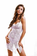 Biancheria da notte pizzo lingerie sexy Negligee BABY DOLL lingeie Camicia S-XL