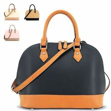 Ladies Faux Leather Two Tone Evening Party Shoulder Bag Purse Handbag GN1672A