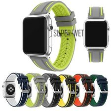 38/42mm Soft Silicone Watch Strap Band Watchband Sport for Apple Watch IWatch