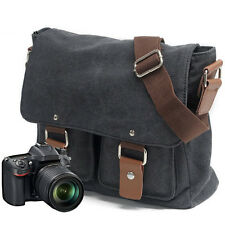 Canvas Digital Camera Messenger Shoulder Bag for DSLR SLR Canon Nikon 3 Colors