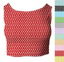 Mouse Ears Polka Dots Sleeveless Crop Top - Sleeveless XS - 5XL