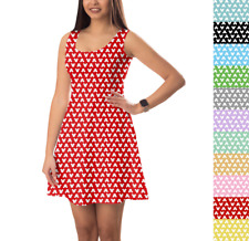 Mouse Ears Polka Dots Sleeveless Dress XS-5XL Sleeveless Flared Stretch Short Dr