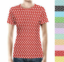 Mouse Ears Polka Dots Women Cotton Blend T-Shirt All-Over-Print