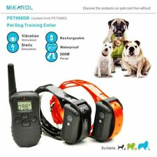 Remote Control Training Dog Electric Collar Rechargeable and Waterproof LCD Pet