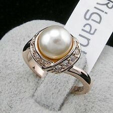2 Colors Brand TracysWing Austria Crystal  18KRGP gold Color simulated pearl ...