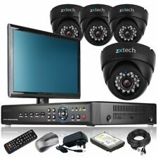4 x LED IR Camera Full D1 8 Channel DVR CCTV System Live Viewing with Monitor 3G