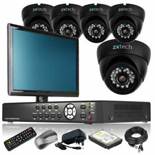 5 x Sony CCD 700TVL Camera HD-MI 8 CH DVR CCTV Package Live Viewing with Monitor