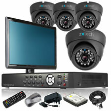 4 x LED IR Camera Full 960H 4 Channel DVR CCTV System All Inclusive with Monitor