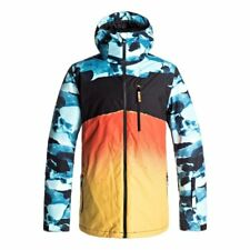 QUIKSILVER MISSION ENGINEERED PRINT JACKET BLUE CAMO SNOWBOARD FW 2018 NEW S M L