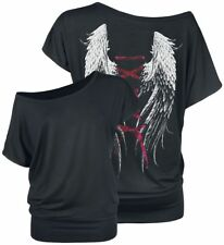 Gothicana by EMP Laced Wings Ladies Tee Maglia donna nero