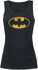 Batman Vintage Logo Top donna nero