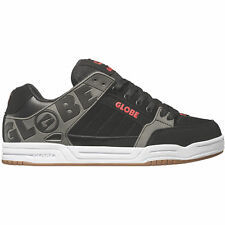 Globe Tilt Skate Shoes Black Charcoal Red