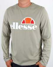 Ellesse Grazie Long Sleeve T Shirt in Seagrass (Grey-Green) - cotton tee  SALE