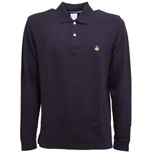5800T polo uomo BROOKS BROTHERS blu slim fit t-shirt polo men