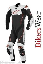 Alpinestars Atem White/Black/RED 1 One Piece Leather Motorcycle Suit £500 OFF