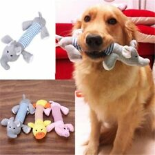 Plush Pet Dog Puppy Tough Chew Squeaky Squeaker Animal Toy Crinkly Sound UK