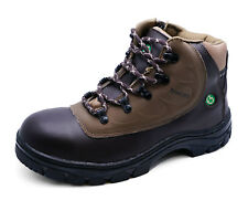 BROWN LACE-UP ZIP WALKING HIKING ANKLE TREK BOOTS TRAIL WARM WINTER SHOES 5-9