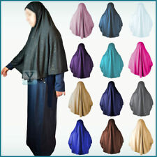 XL one Piece glitter Amira Hijab Khimar Jilbab Abaya Scarf pull on ready made