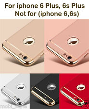 iPhone 6 Plus 6sPlus Luxury Armor Back Case + Logo Hard  Hybrid Shockproof