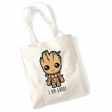 """I Am Groot"" Cute Baby Groot Guardians of The Galaxy 2 Inspired Tote Bag"